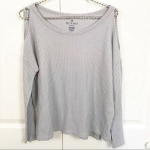 American Eagle l Plush Waffle Knit Cold Shoulder